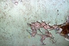De roest en de het metaaloppervlakte van het erosieijzer hadden schade door weathe stock afbeeldingen