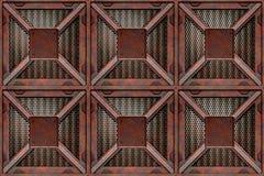 De roestende dozen van de krattenvracht Royalty-vrije Stock Foto