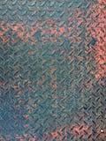 De roestige achtergrond van de de vloertextuur van de metaalplaat stock foto