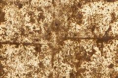 De roestige bruine achtergrond van het Metaalblad Stock Foto