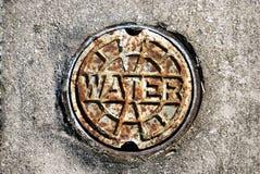 De roestige Dekking van de Klep van het Water Royalty-vrije Stock Foto's