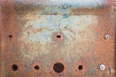 De roestige metaalplaat tastte oude textuur aan stock afbeelding