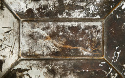 De roestige oppervlakte van het grungemetaal Stock Foto