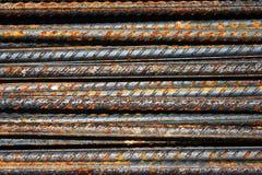 De roestige staven van het grungestaal Stock Afbeelding