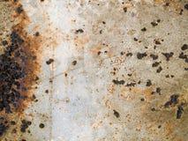 De roestige Textuur van het Metaal stock fotografie