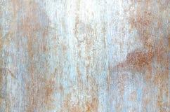 De roesttextuur en achtergrond van de ijzeroppervlakte Stock Foto's