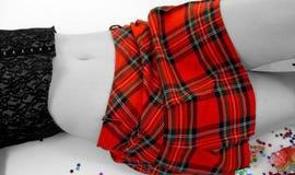 De Rok van het geruite Schotse wollen stof Royalty-vrije Stock Fotografie
