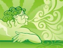 De Roker van de pot royalty-vrije illustratie