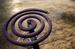 De rol van de lavendelmug Het afweermiddel van de mug Anti-mug Preve Stock Fotografie