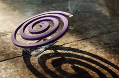 De rol van de lavendelmug Het afweermiddel van de mug Anti-mug Preve Stock Foto's