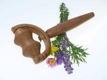 De Rol van de massage met sommige bloemen Stock Foto's