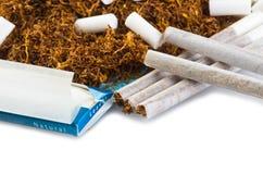 De rol van de tabak en van de sigaret Royalty-vrije Stock Afbeelding