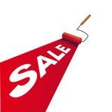 De rol van de verf met verkoop royalty-vrije illustratie