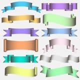 De Rol van het lint in pastelkleurtonen stock illustratie
