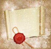 De rol van het nieuwjaar met de wasverbinding van Kerstman Stock Foto's