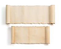 De rol van het perkament die op wit wordt geïsoleerd Royalty-vrije Stock Foto's