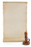 De rol van het perkament die op wit wordt geïsoleerd Royalty-vrije Stock Fotografie