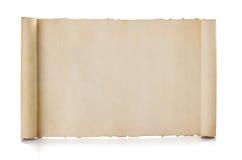 De rol van het perkament die op wit wordt geïsoleerd Royalty-vrije Stock Foto