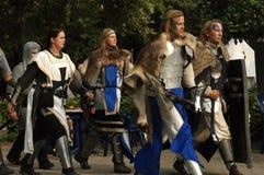 De rol van ridders het spelen stock afbeeldingen