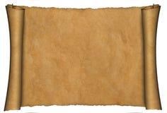 De rolachtergrond van het perkament Stock Afbeelding