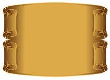 De rolachtergrond van het perkament Royalty-vrije Stock Foto's
