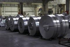 De rollen van het aluminium Stock Afbeelding