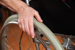 In de rolstoel Royalty-vrije Stock Fotografie