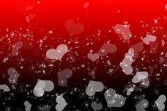 De romantische achtergrond van liefde rode Valentijnskaarten stock afbeeldingen