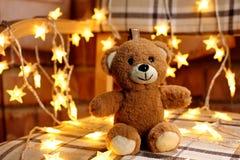 De romantische gift van teddyberenkerstmis royalty-vrije stock fotografie