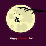 De romantische kaart van de valentijnskaart` s dag Stock Fotografie