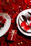 De romantische Lijst van het Diner Royalty-vrije Stock Foto