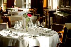 De romantische lijst van het Restaurant Royalty-vrije Stock Foto