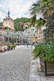 De romantische medische bestemming van de kuuroordreis, Tsjechische Republiek, Europa Stock Foto's