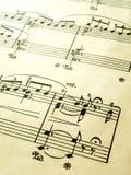 De romantische score van de pianomuziek stock fotografie