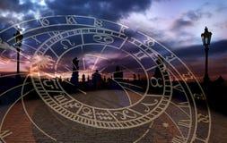 De romantische Stad van Praag stock afbeeldingen