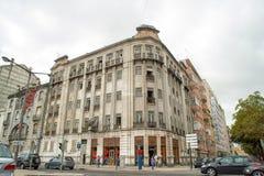De romantische straat van Lissabon royalty-vrije stock fotografie