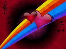 De romantische VectorIllustratie van de Muziek Stock Fotografie