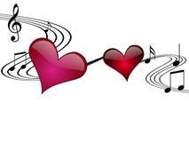 De romantische VectorIllustratie van de Muziek Stock Foto