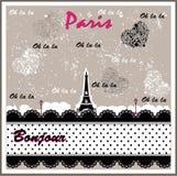 De romantische verfraaide Toren van Eiffel Stock Afbeelding