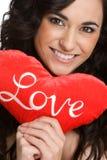 De romantische Vrouw van Valentijnskaarten Stock Afbeelding