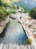 De Romeinen overbruggen - Ponte-Romano stock foto