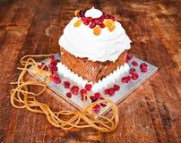 De romige cake van Kerstmis Stock Afbeelding