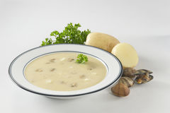De romige soep van het aardappeltweekleppige schelpdier Stock Afbeelding