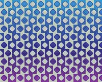 De Rond gemaakte Vierkanten van de Muur van de Koffie van de optische illusie Effect Royalty-vrije Stock Foto's