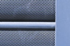 De rond geperforeerde textuur van de metaalplaat Stock Afbeelding