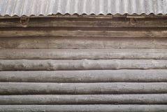 De ronde achtergrond van de logboekmuur Stock Afbeeldingen