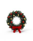 De ronde decoratie van Kerstmis Stock Foto