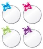 De ronde Heldere Gekleurde Markeringen van de Gift Stock Foto