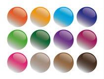 De ronde illustratie van glasknopen Stock Foto
