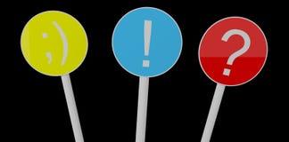 De ronde kleur geïsoleerded platen stock illustratie